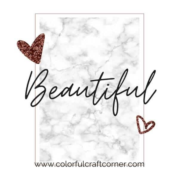 'Beautiful' Printable
