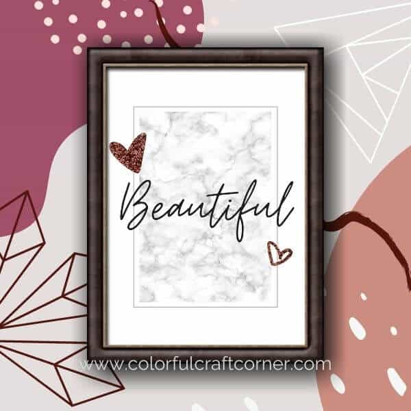 Beautiful word printable