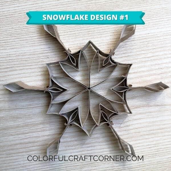Paper tube snowflake