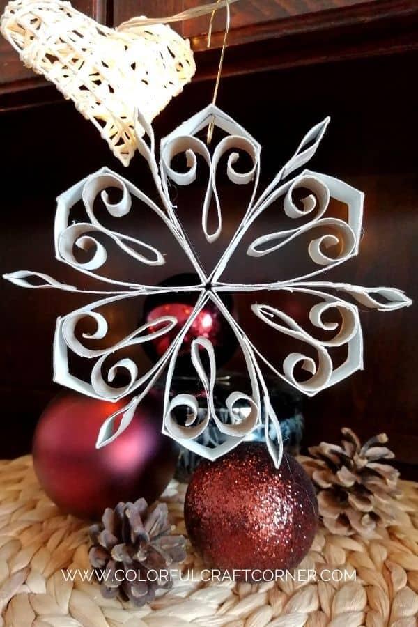 DIY snowflake decor