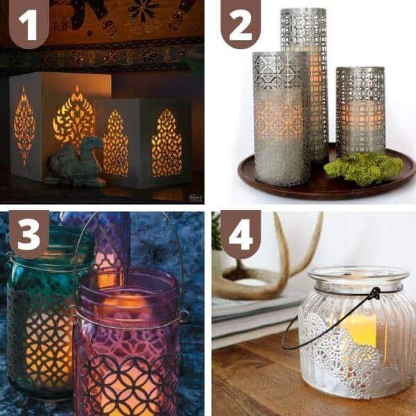 DIY boho lanterns and luminaries