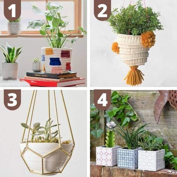 DIY boho plant holders