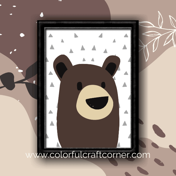 Free prinatble bear wall art