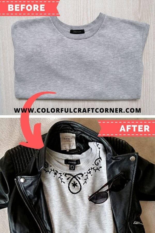 Sweatshirt refashioning