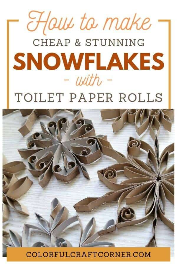 Toilet paper roll snowflake craft