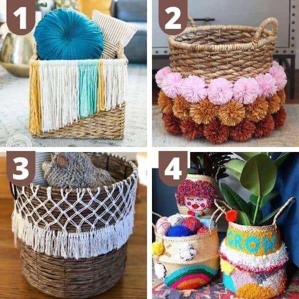 DIY boho baskets