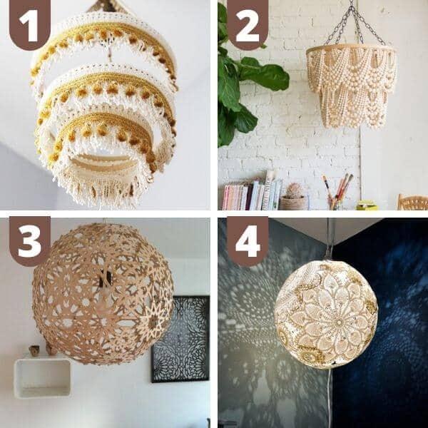 DIY boho chandeliers and pendant