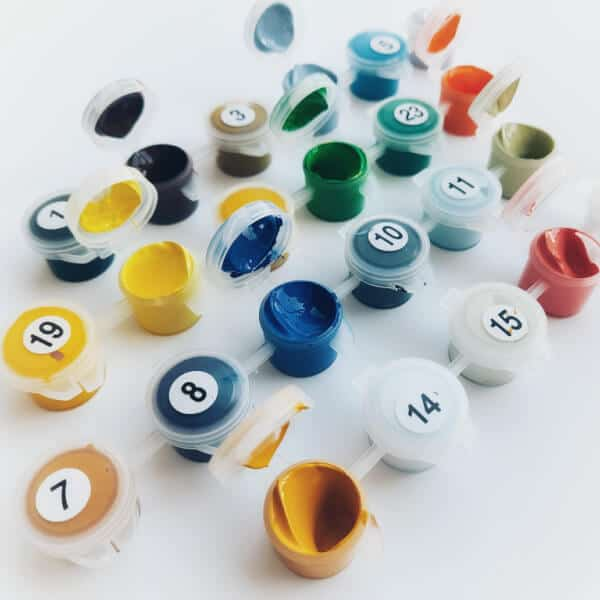 Paint from paint by number kits