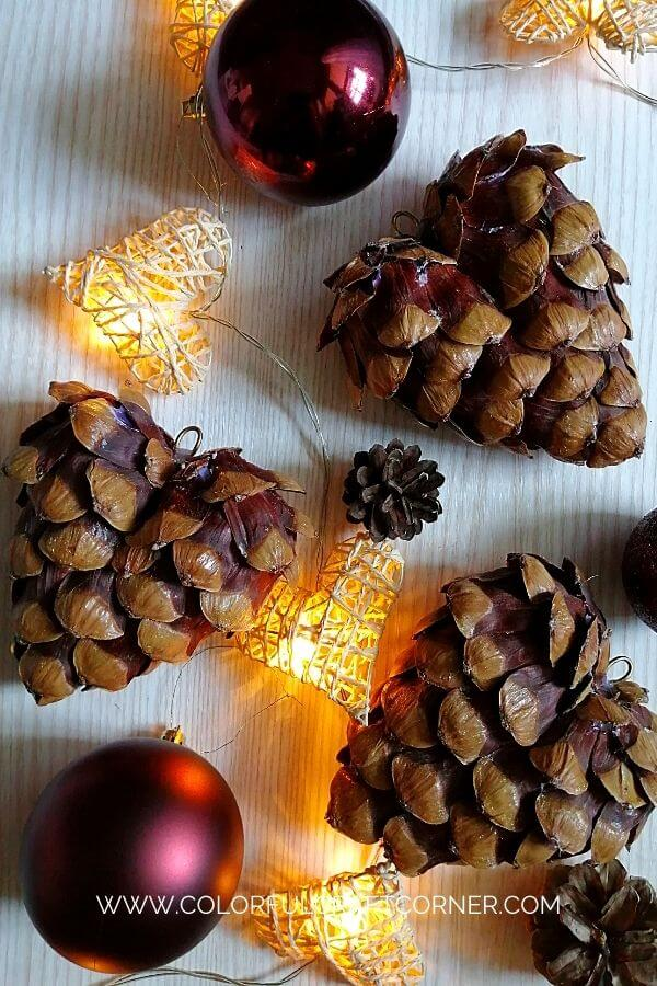 DIY Pinecone Heart Ornament