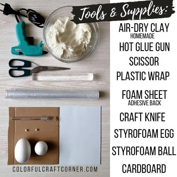 Aird-dry clay craft supplies