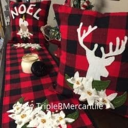 Buffalo Plaid felt applique kit