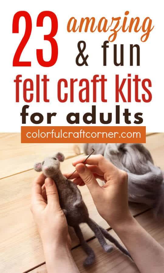 Felt craft kits for adults
