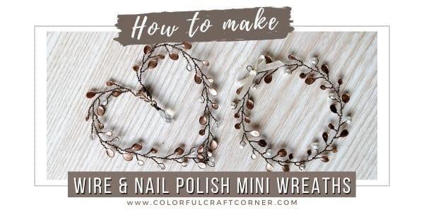 How to make mini wreath ornaments