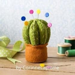 Cactus Pincushion felt craft kit for adults