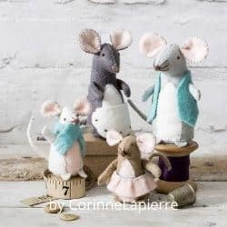 Mouse Family felt craft kit for adults