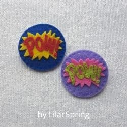 Badges felt craft kits for adults