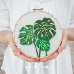Leaf Wall Art felt craft kit for adults
