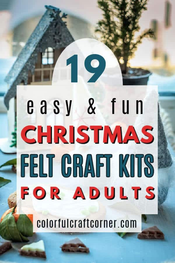 Christmas felt craft kit for adults