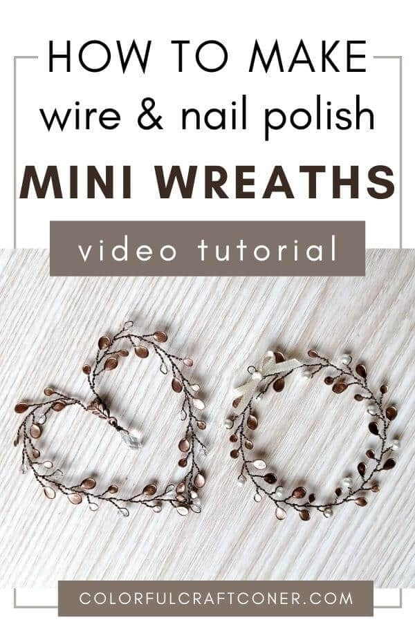 DIY wire mini wreaths