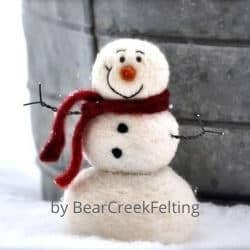Needle Felted snowman craft kit