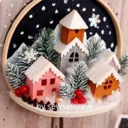 Felt town wall hanging craft kit