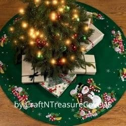 Felt tree skirt craft kit