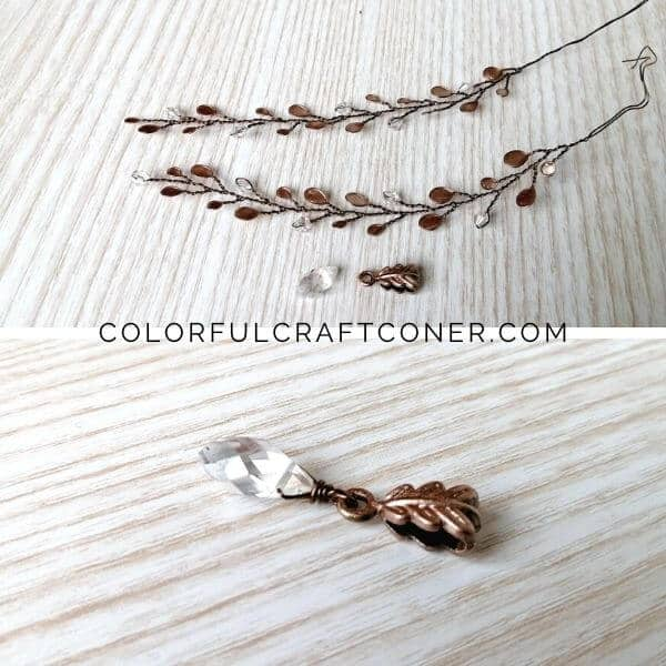 wire and nail polish craft