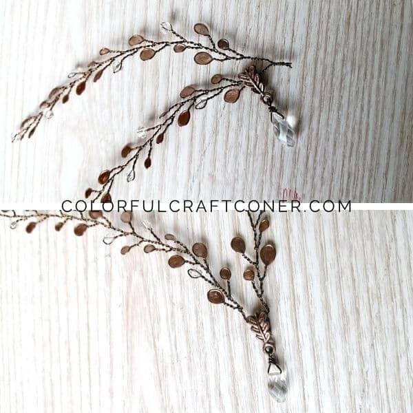 Wire mini wreath for crafts
