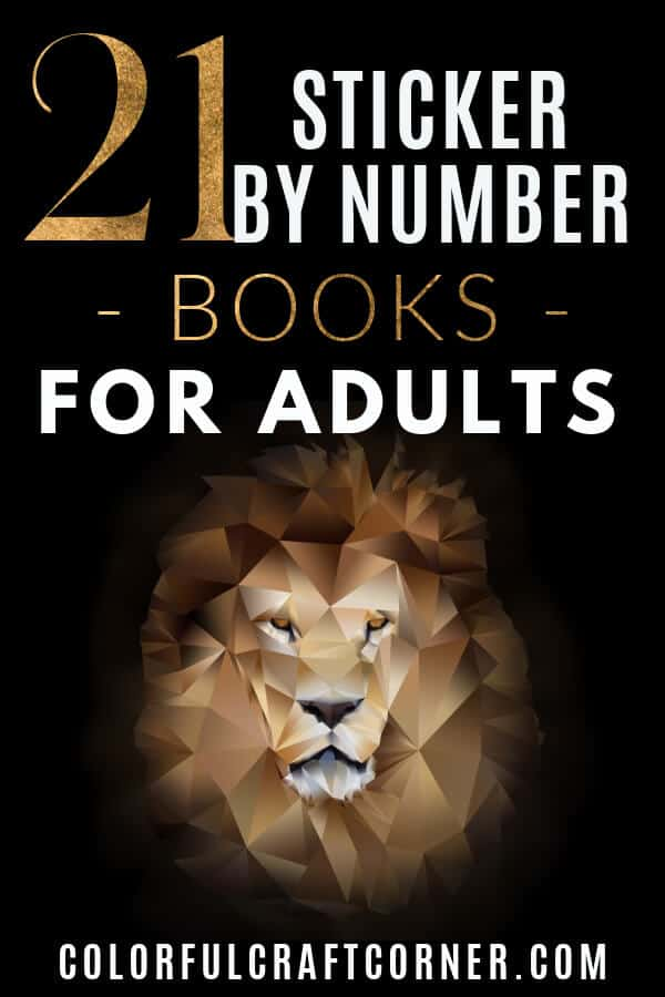 Sticker by number books for adults