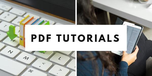 PDF tutorials