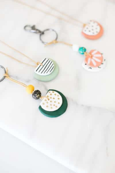 air dry clay necklace