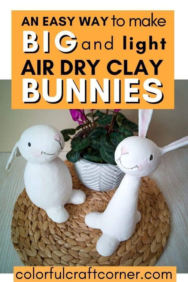 air dry clay bunnies
