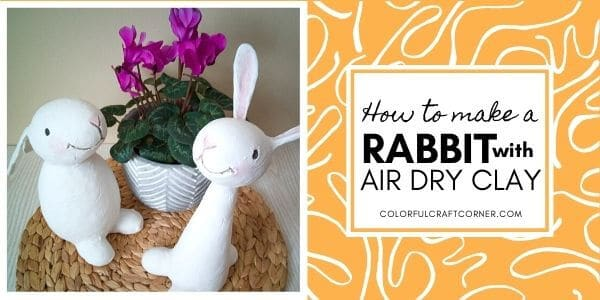 air dry clay rabbit