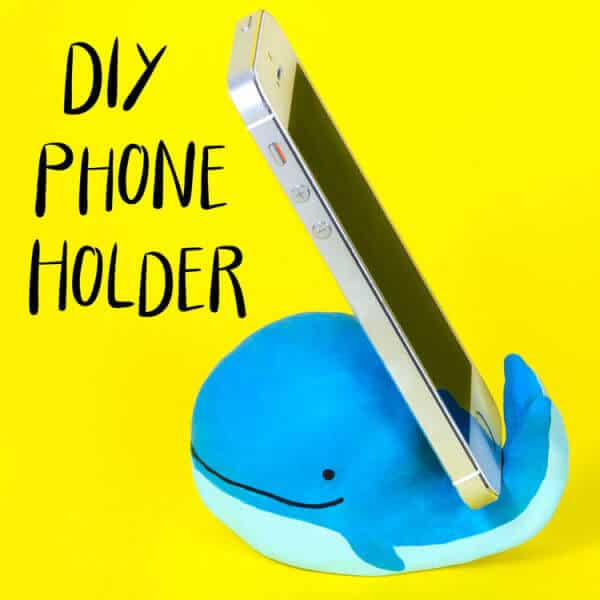 clay whale phone holder