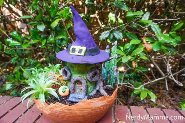 DIY clay fairy house