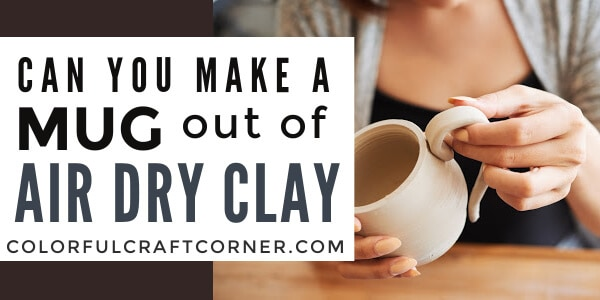 air dry clay mug