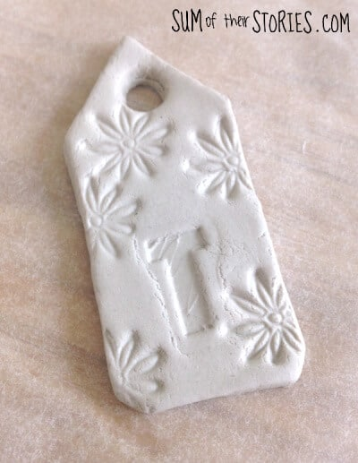 air dry clay gift tag