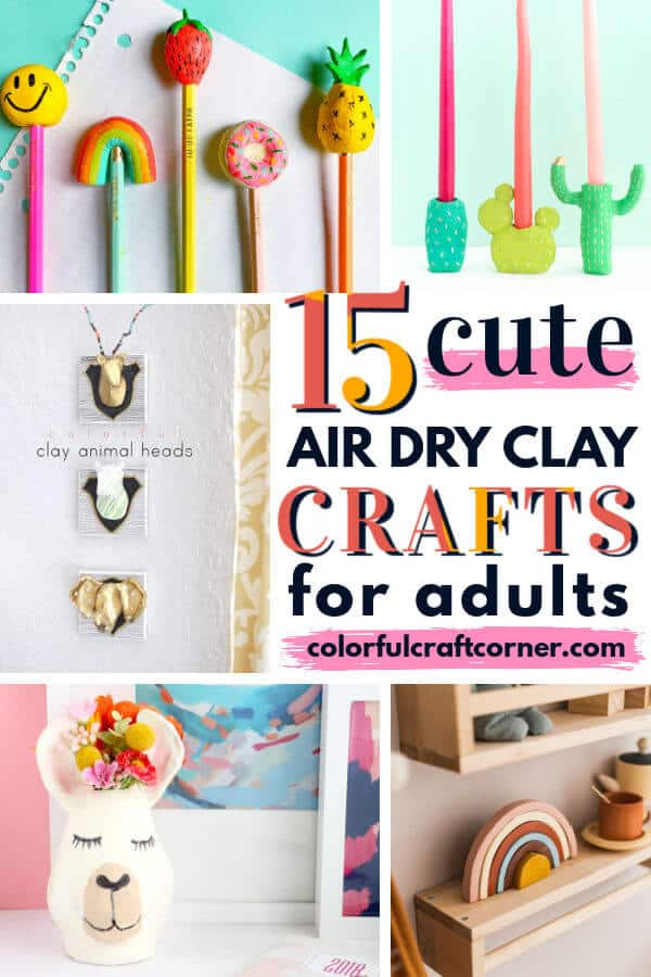 cute air dry clay crafts for adults