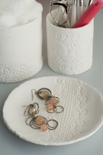 air dry clay container