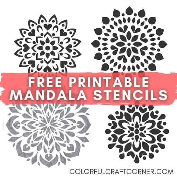 free printable mandala stencils