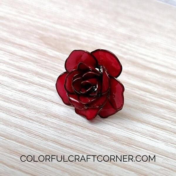 DIY nail polish flower