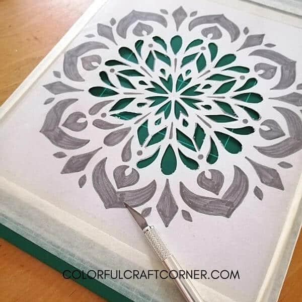 mandala stencil cutting