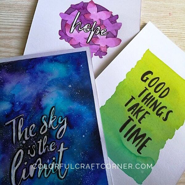 Watercolor Paintings with Quotes