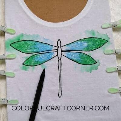T-shirt painting idea