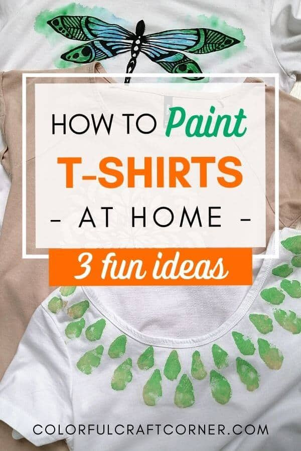 Paint T-shirt at home