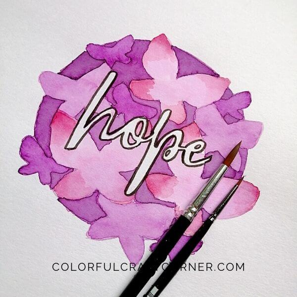 Watercolor Wall Art Quote