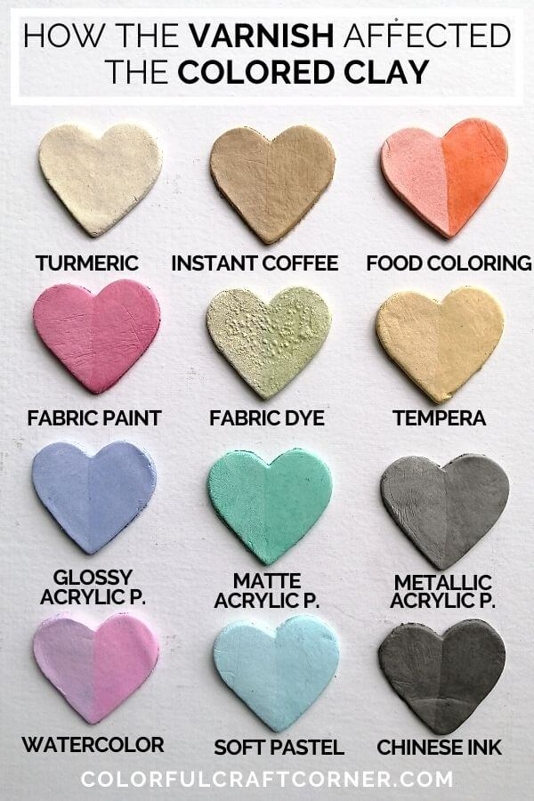 colored clay samples