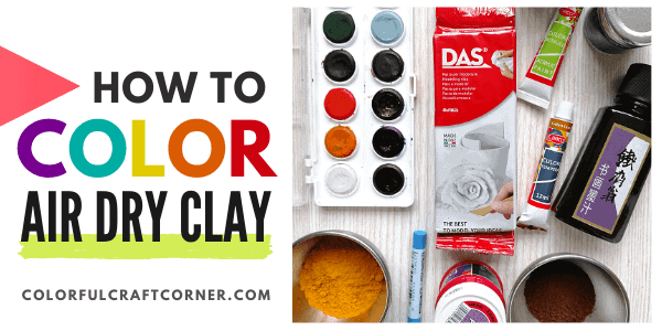 how to color air dry clay