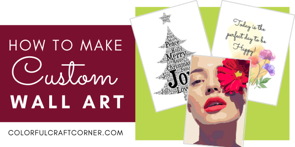 how to make custom wall art