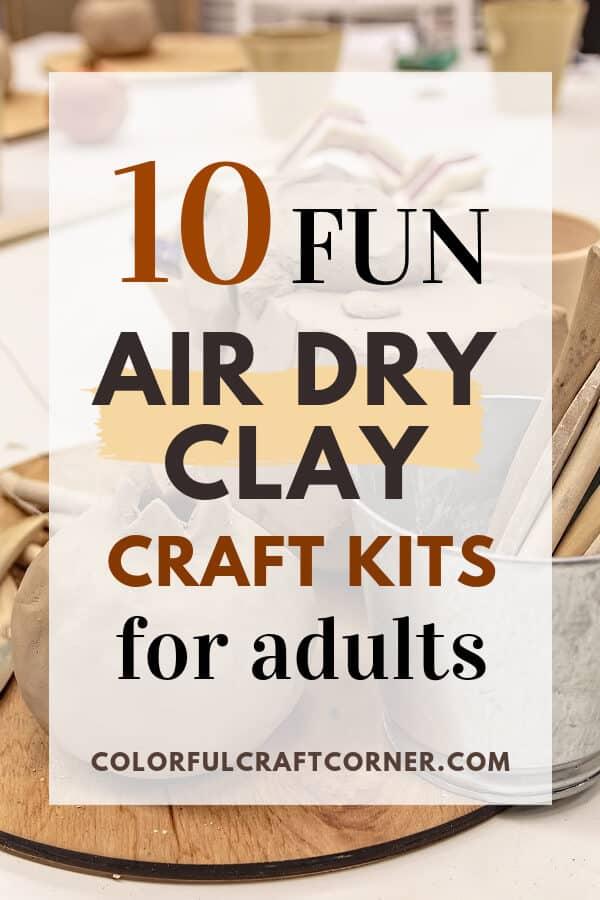 air dry clay craft kit